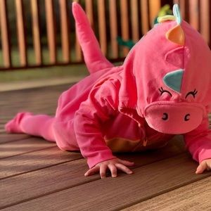 Carters pink dragon costume- 12 month